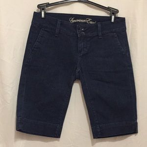 American Eagle Dark Blue shorts Size 4 Denim